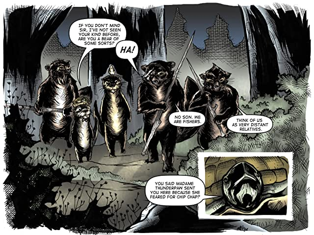 click for super-sized previews of War of the Woods #5: Season 1
