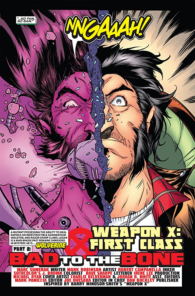 click for super-sized previews of Weapon X: First Class #2 (of 3)