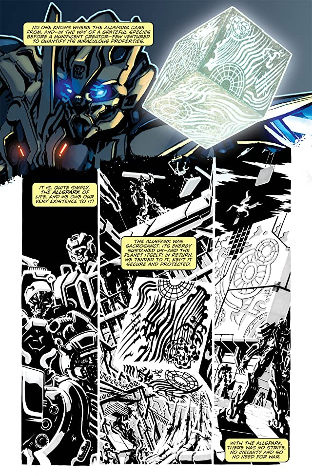 click for super-sized previews of Transformers: The Official Movie Adaptation Prequel #1