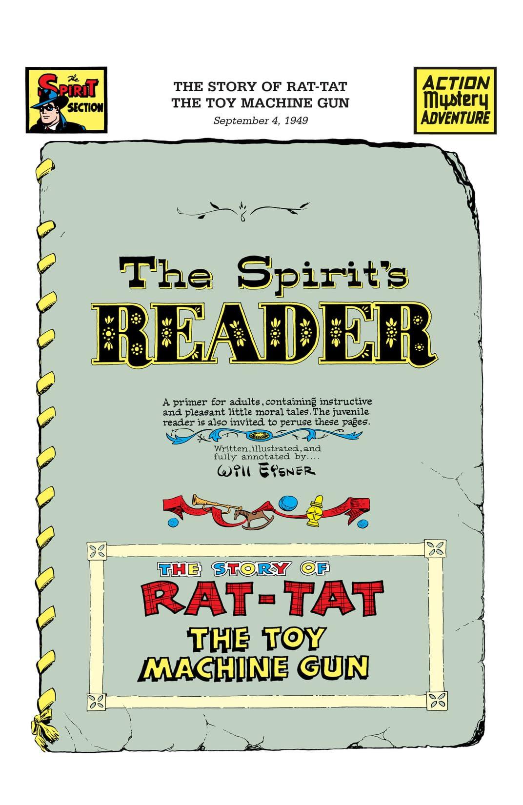 The Spirit #484: Rat-Tat, the Toy Machine Gun