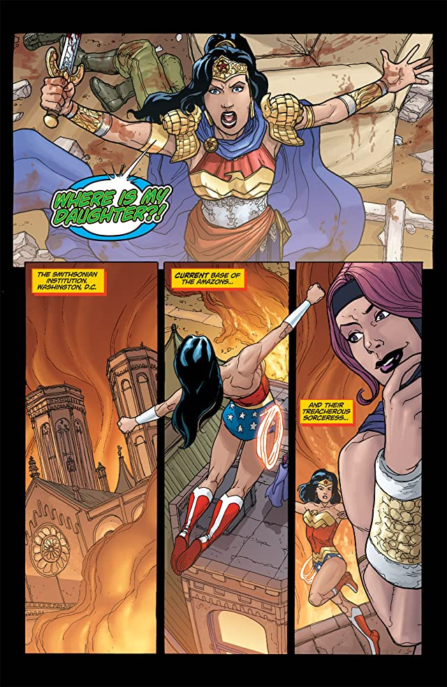 click for super-sized previews of Amazons Attack! #6