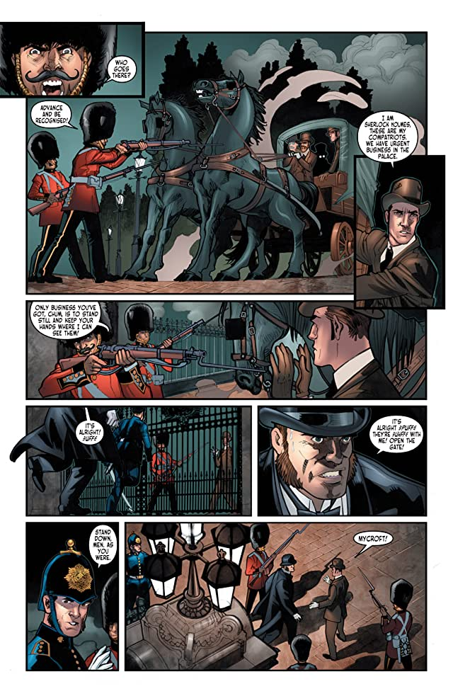 click for super-sized previews of Victorian Undead II: Sherlock Holmes vs. Dracula #5 (of 5)