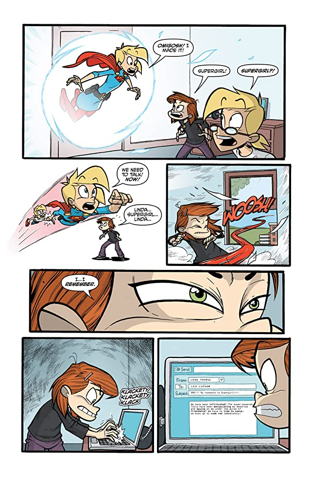 click for super-sized previews of Supergirl: Cosmic Adventures In the 8th Grade #5