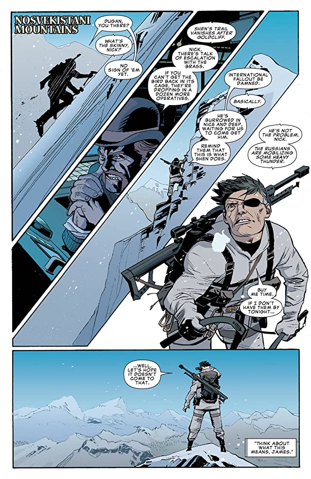click for super-sized previews of Winter Soldier: The Bitter March #5