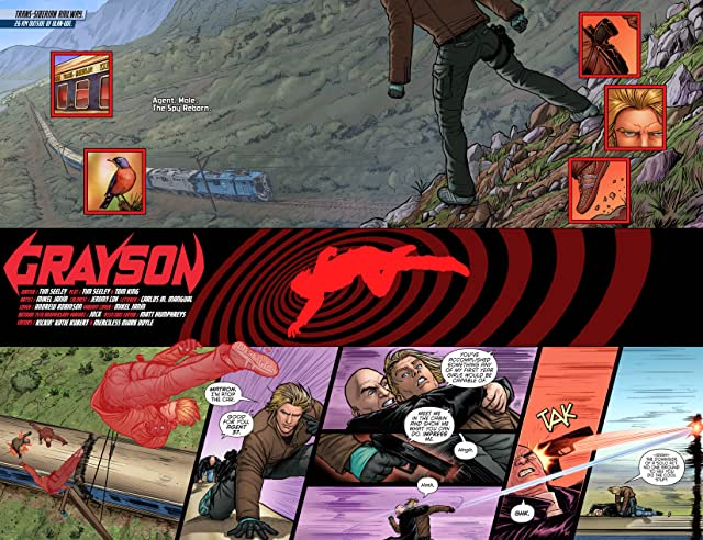 click for super-sized previews of Grayson (2014-) #1