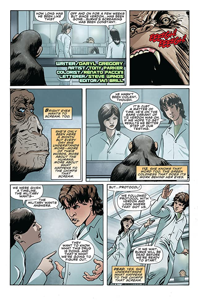 click for super-sized previews of Rise of the Planet of the Apes Prequel: Chapter 4