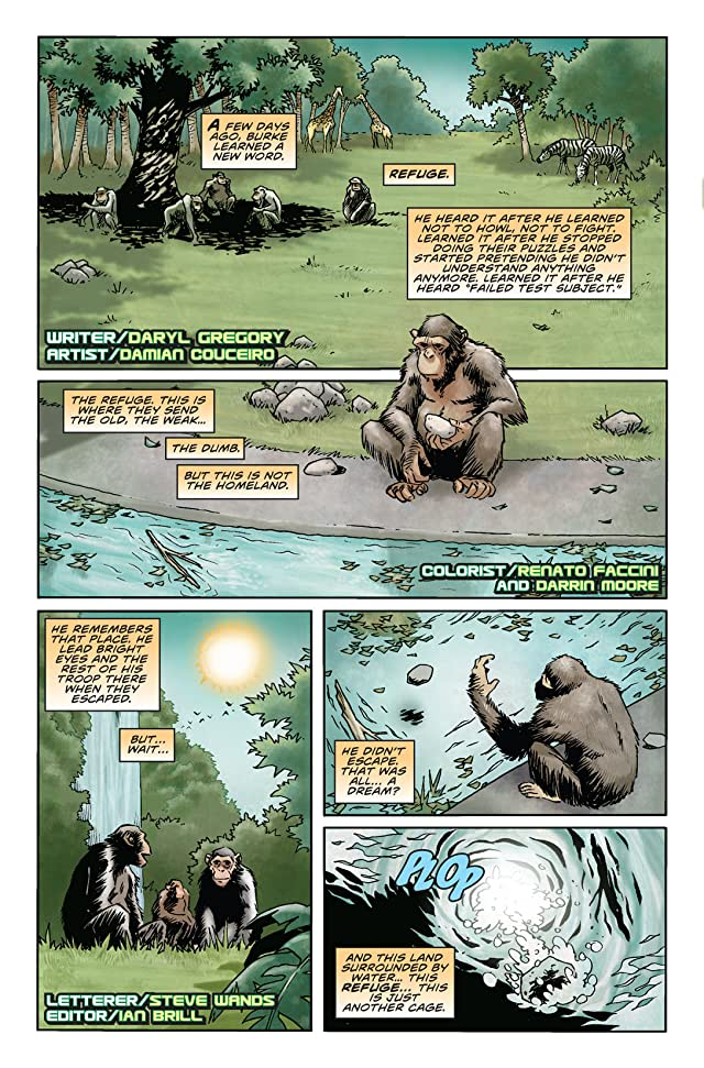 click for super-sized previews of Rise of the Planet of the Apes Prequel: Chapter 5