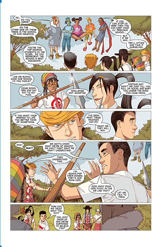 click for super-sized previews of Five Weapons #10