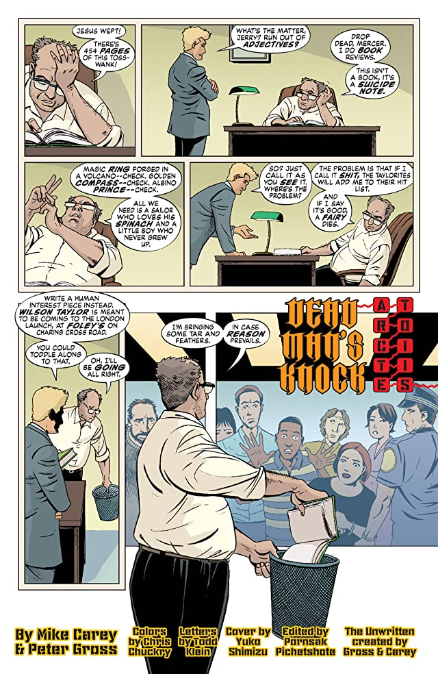 click for super-sized previews of The Unwritten #14