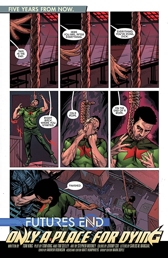 click for super-sized previews of Grayson (2014-) #1: Futures End