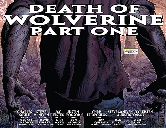 click for super-sized previews of Death of Wolverine #1