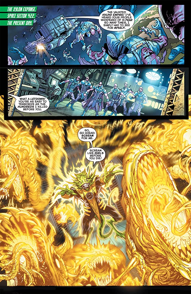 click for super-sized previews of Green Lantern: New Guardians (2011-2015) #1