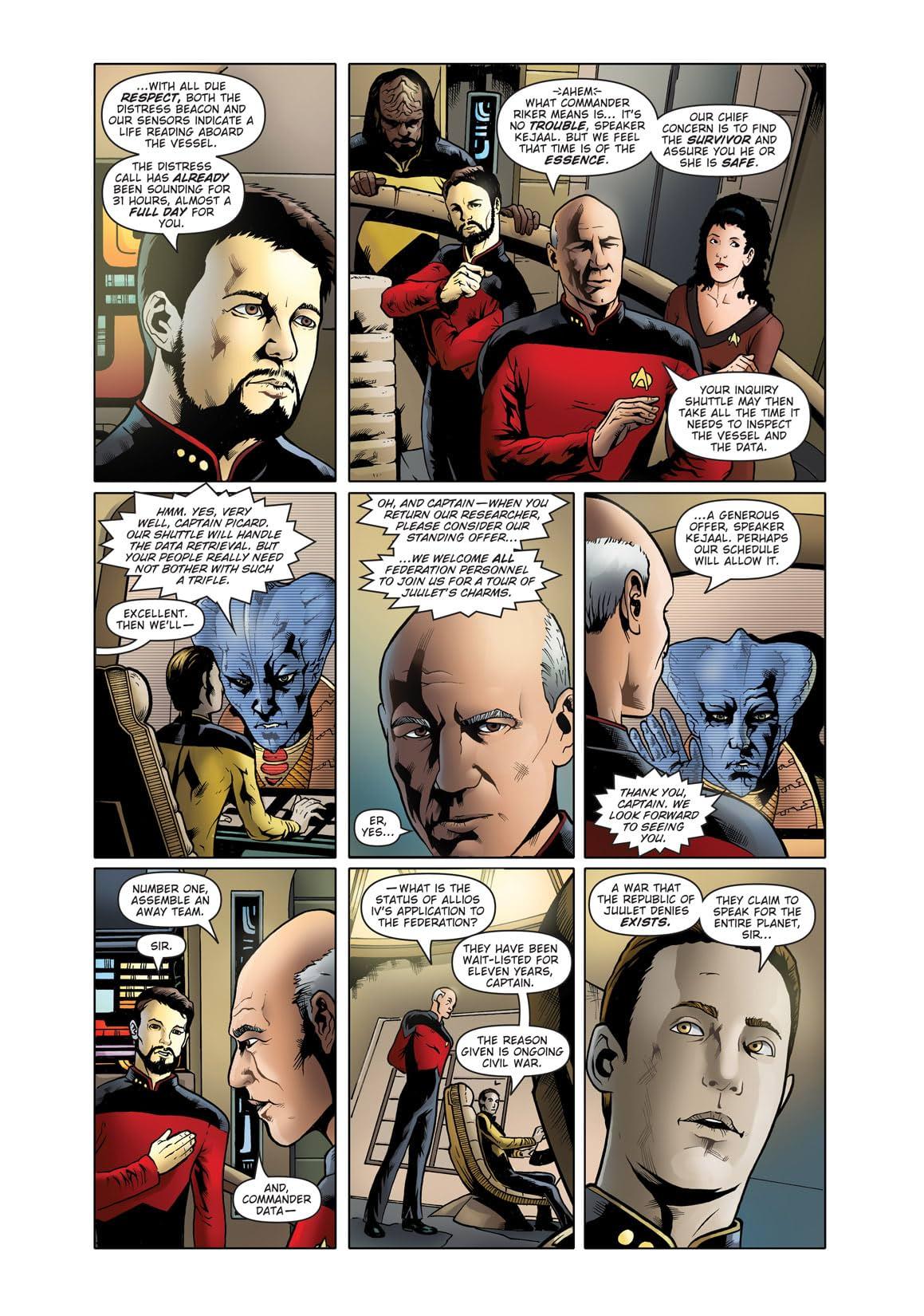 Star Trek: The Next Generation: Ghosts #1