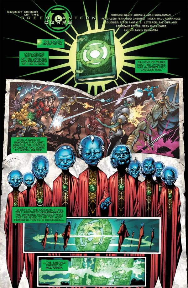 Secret Origin of the Green Lantern Corps #1