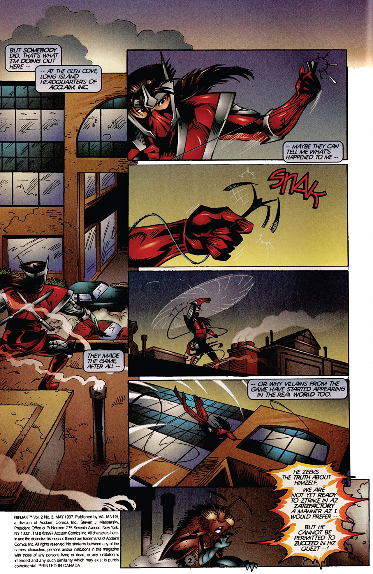 Ninjak (1997) #3
