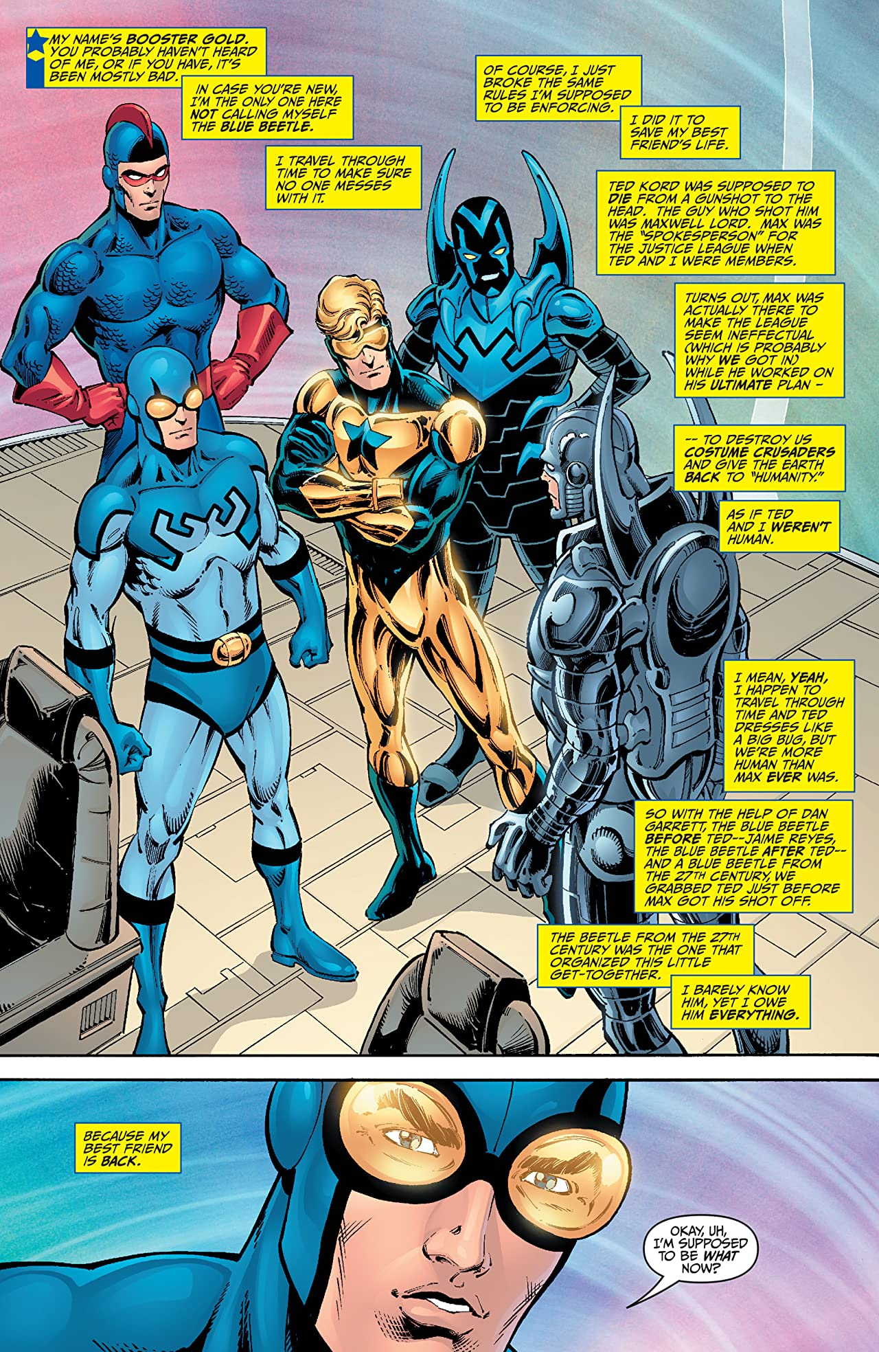 Booster Gold (2007-2011): Blue And Gold