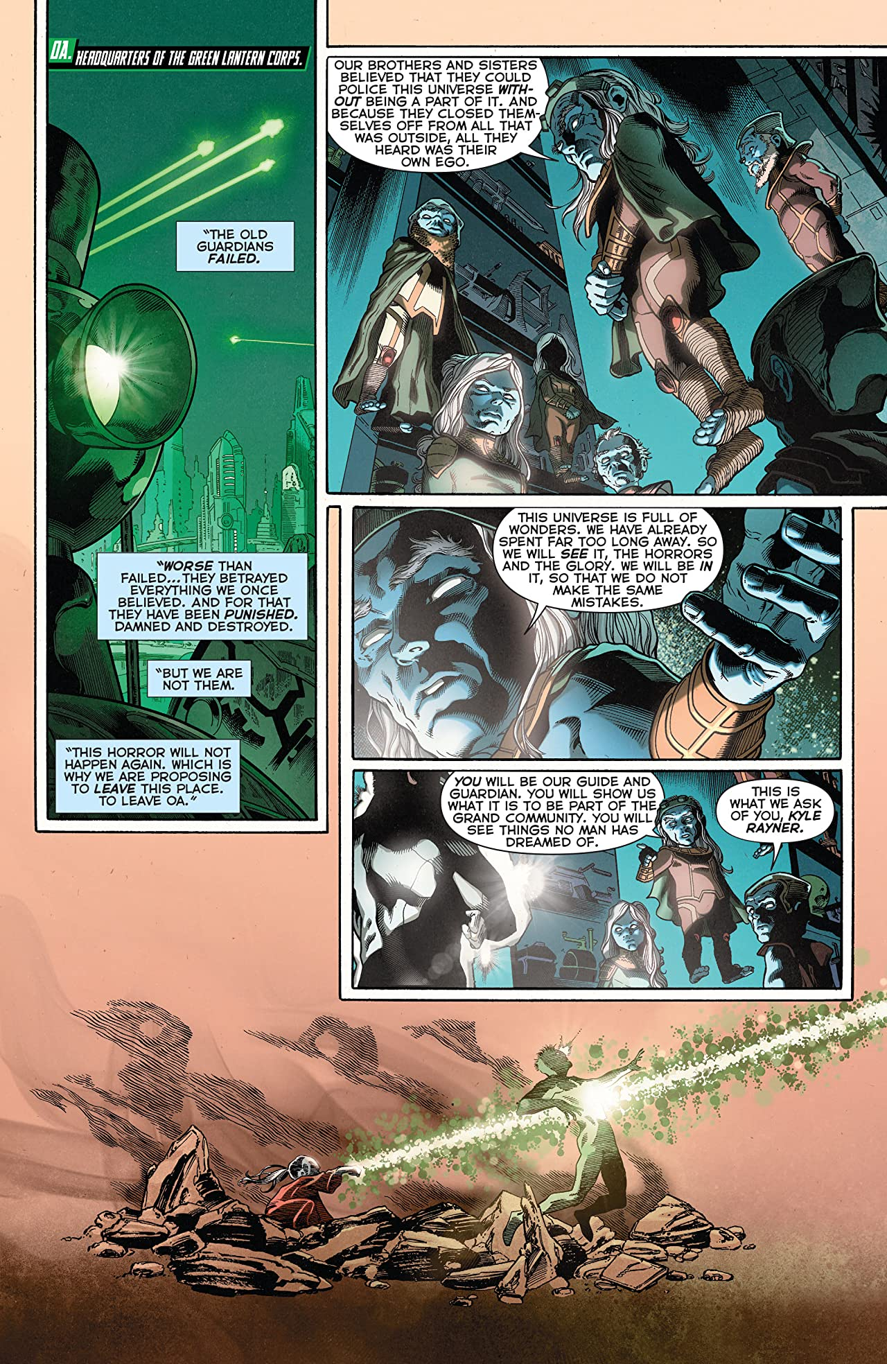 Green Lantern: New Guardians (2011-2015) Vol. 4: Gods and Monsters