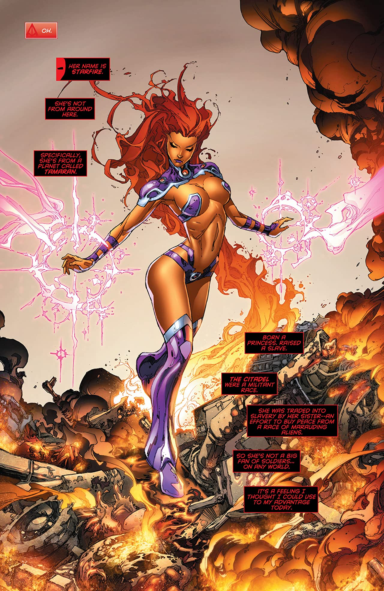 and Red starfire outlaws hood the