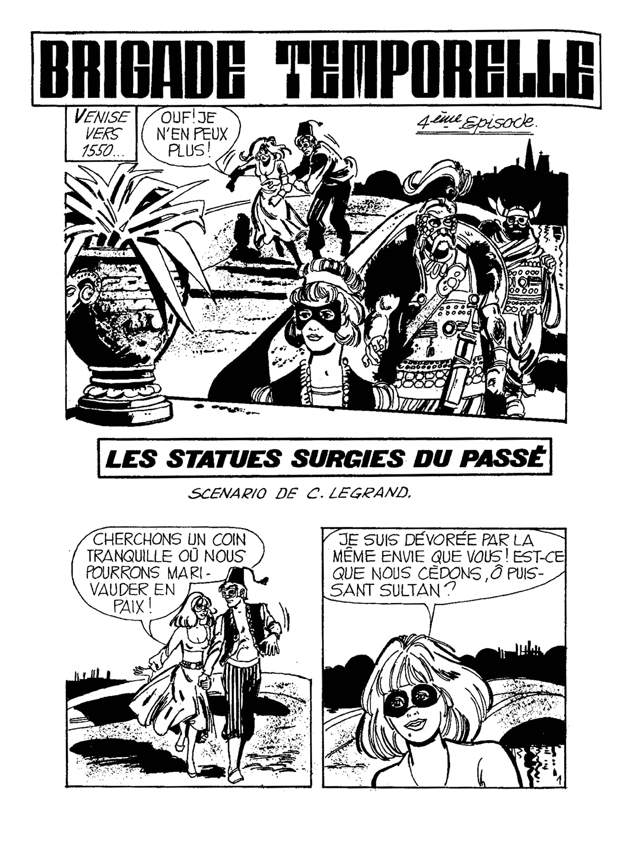 BRIGADE TEMPORELLE Vol. 4: Les Statues Surgies du Passé
