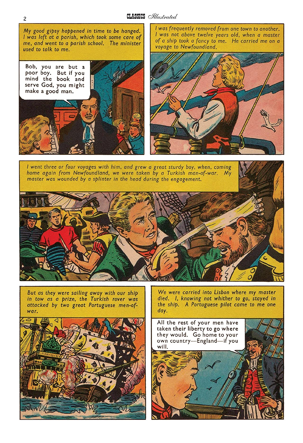Classics Illustrated JES UK #143: Sail with the Devil