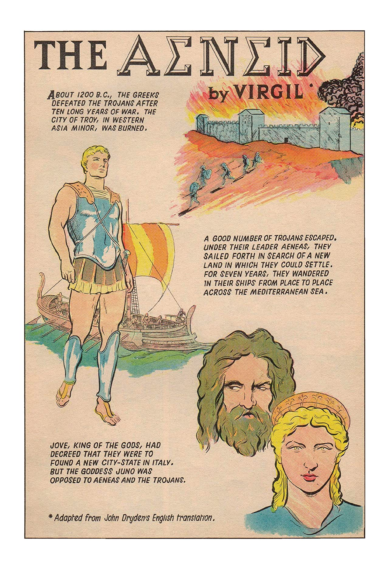 Classics Illustrated JES UK #161: The Aeneid