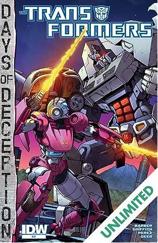 Transformers (2011-) #37: Days of Deception
