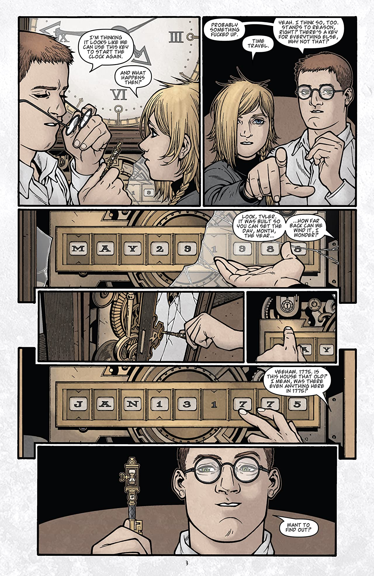 Locke & Key: Clockworks No.3 (sur 6)