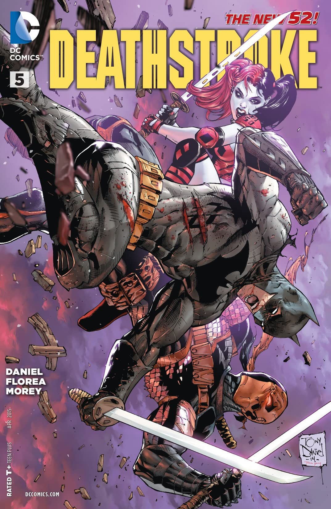 Batman Deathstroke NEW SUICIDE SQUAD 2014 DC New 52 #5  Harley Quinn
