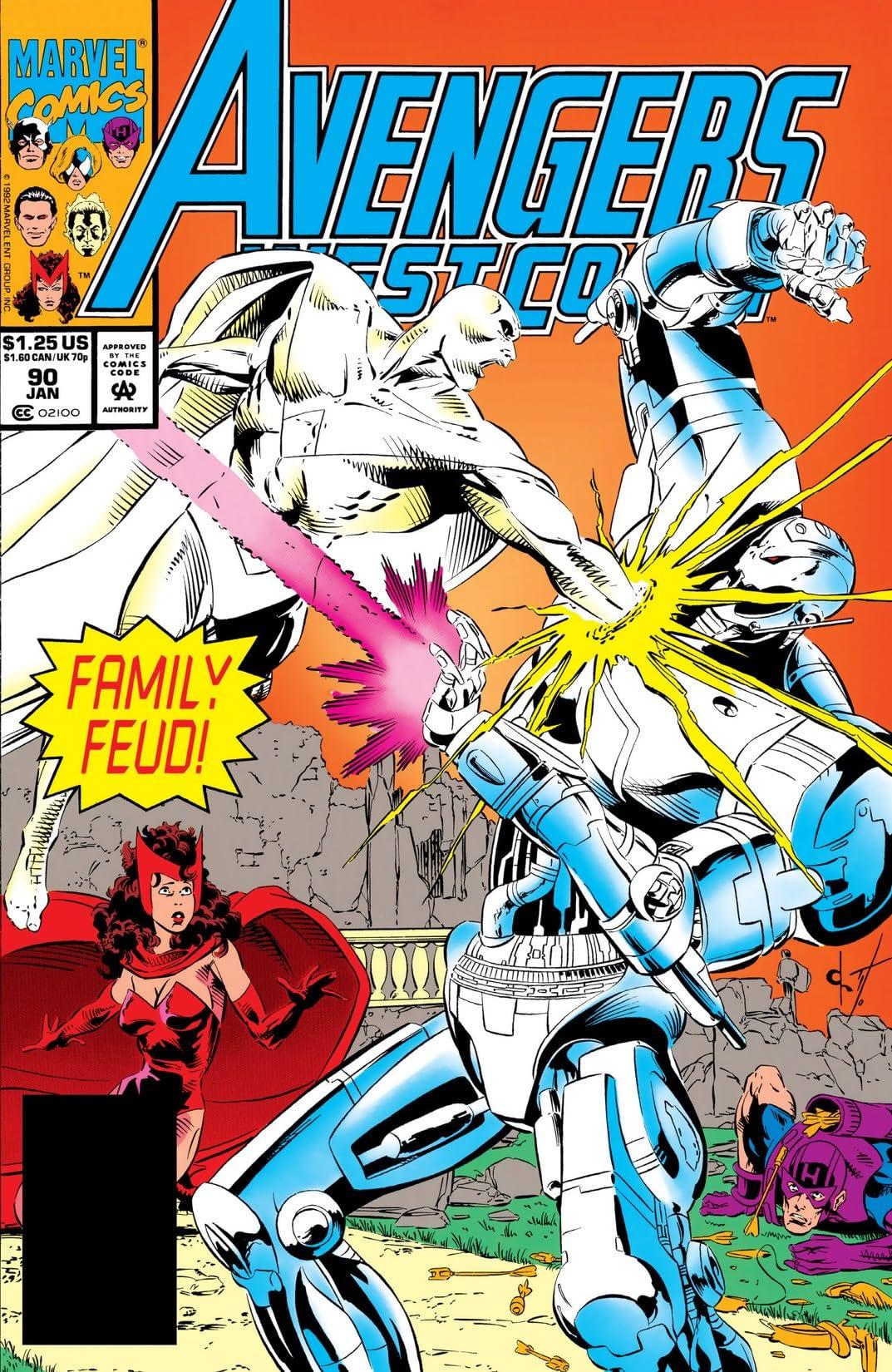 Avengers West Coast (1985-1994) #90