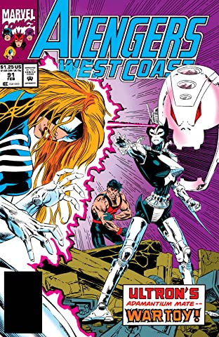 Avengers West Coast (1985-1994) No.91