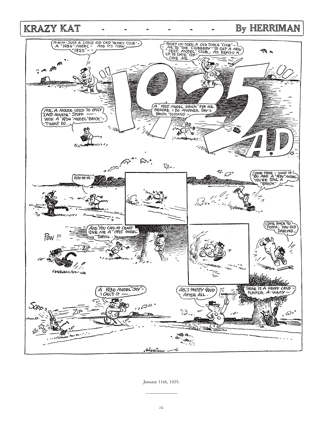 Krazy & Ignatz: 1925-1926 - There is a Heppy Land Furfur A-waay