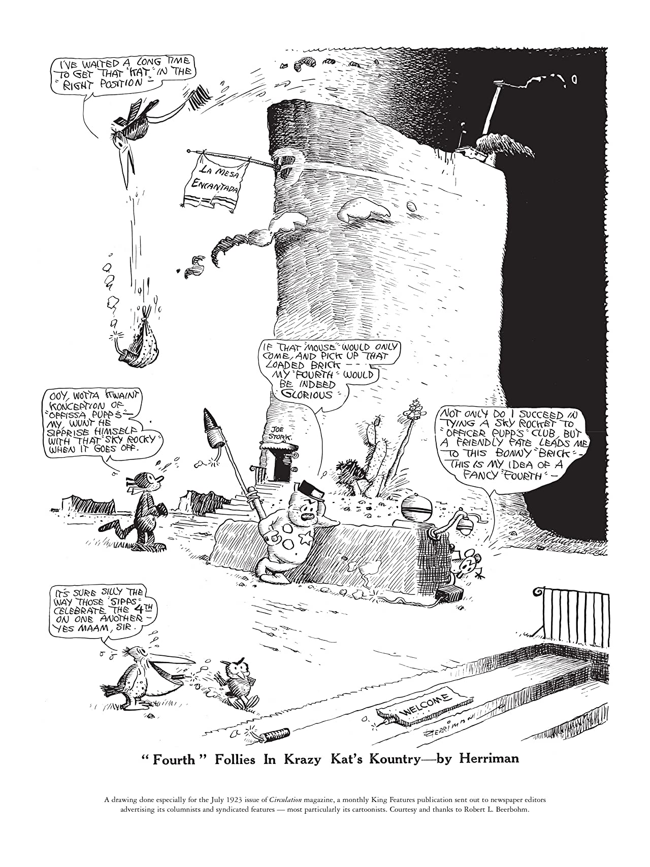 Krazy & Ignatz: 1931-1932 - A Kat A'Lilt With Song