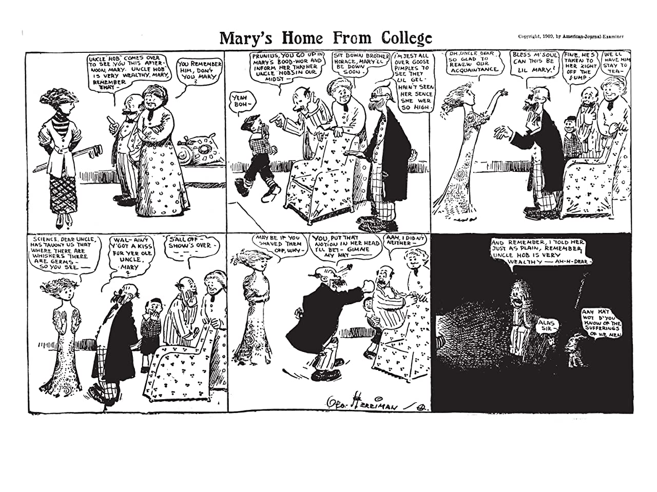 Krazy & Ignatz: 1933-1934 - Necromancy by the Blue Bean Bush