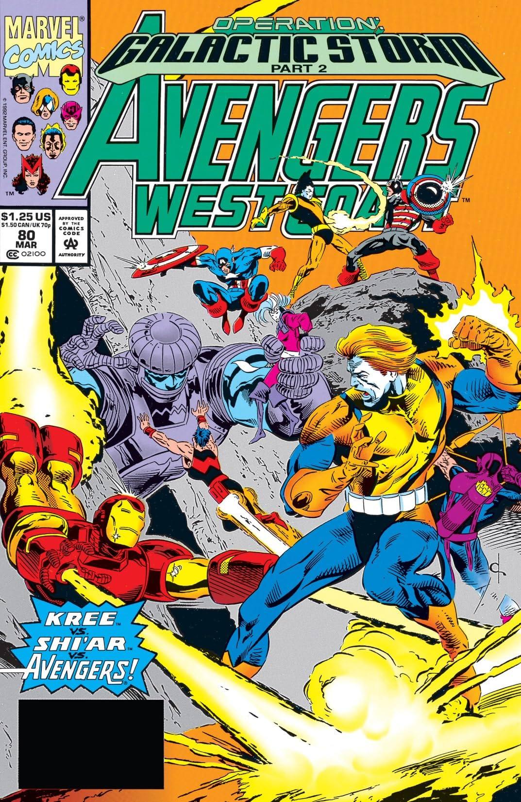 Avengers West Coast (1985-1994) #80