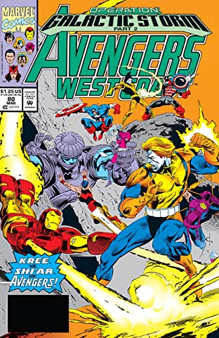 Avengers West Coast (1985-1994) No.80