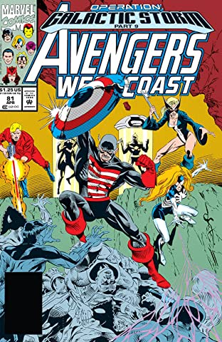 Avengers West Coast (1985-1994) No.81