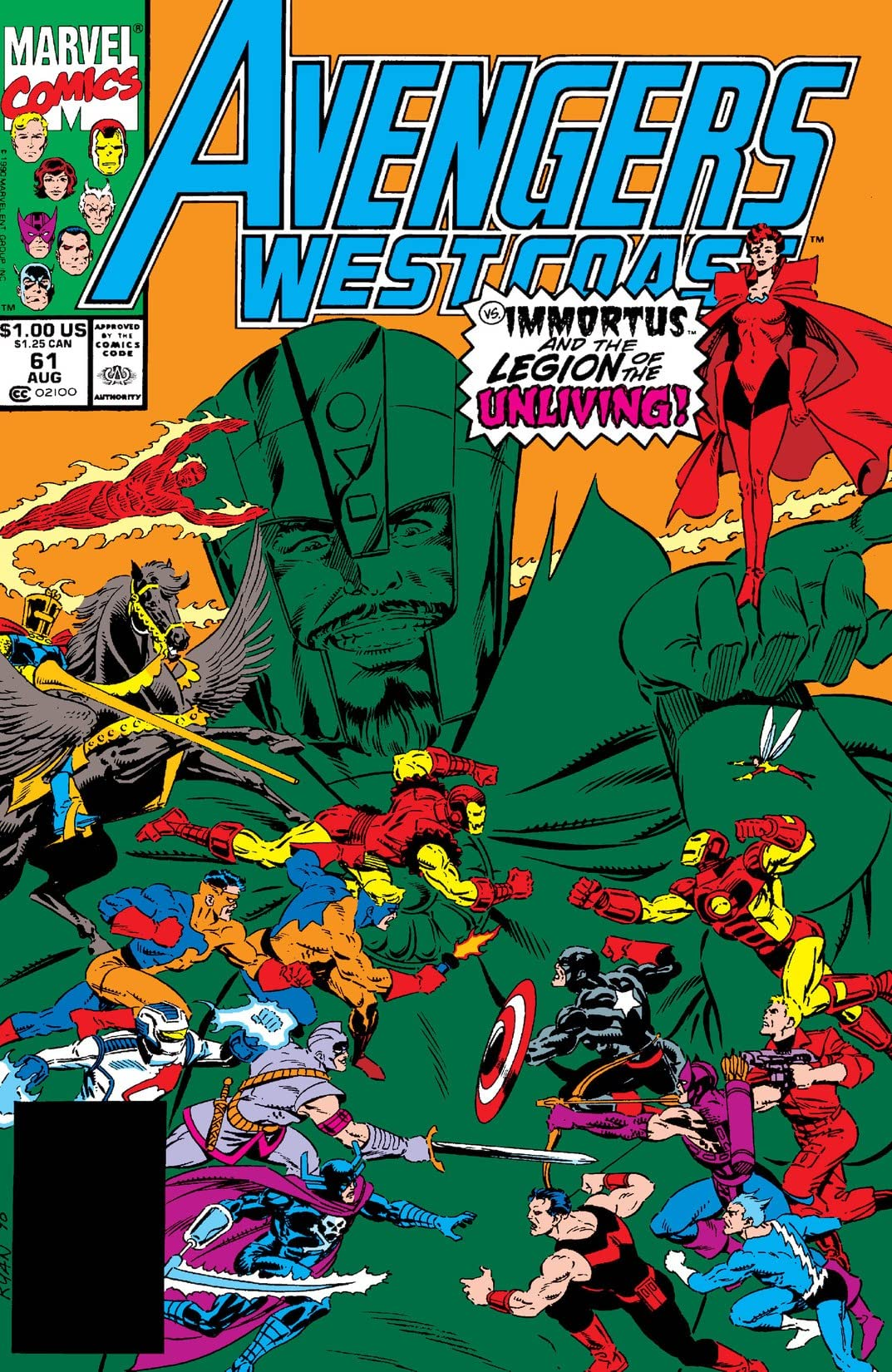Avengers West Coast (1985-1994) #61