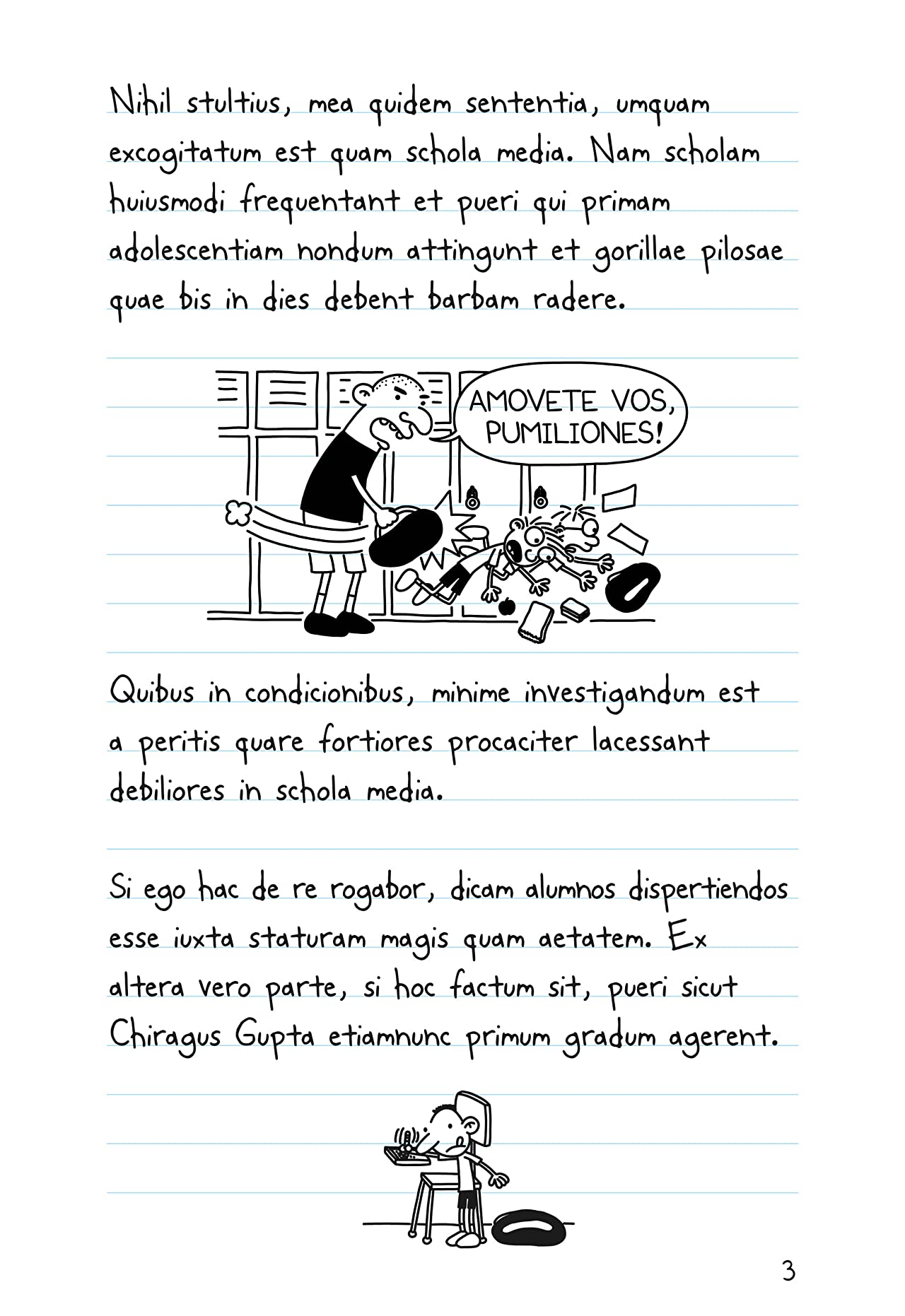 Diary of a Wimpy Kid Latin Edition: Commentarii de Inepto Puero