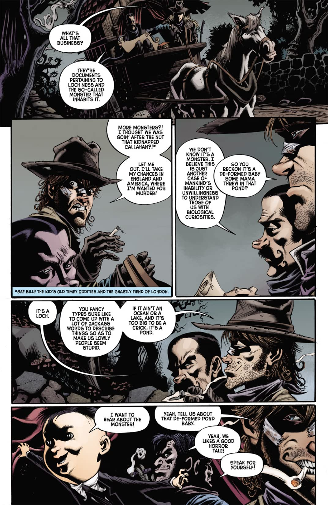 Billy the Kid's Old Timey Oddities and the Orm of Loch Ness #1