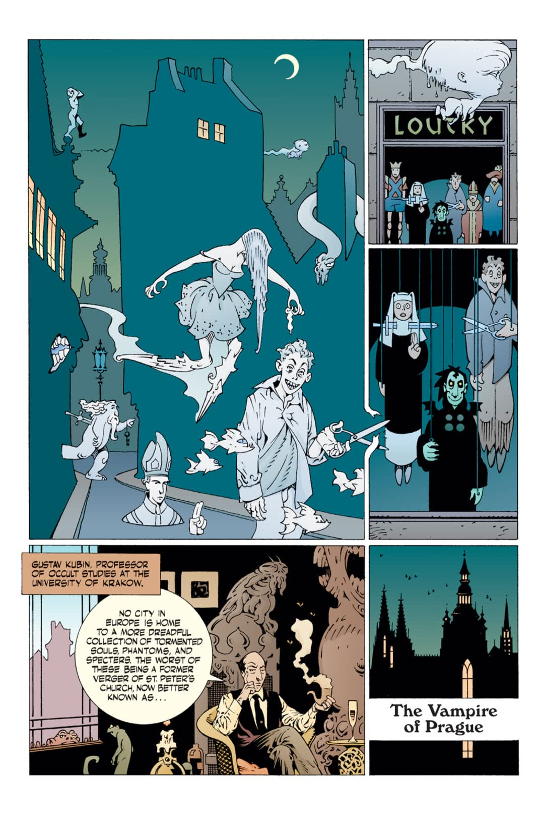 Hellboy: The Vampire of Prague and Dr. Carp's Experiment #6