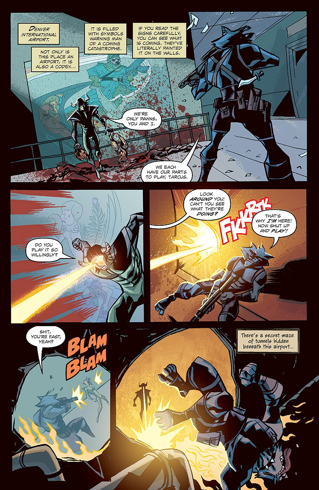 Michael Avon Oeming's The Victories: Transhuman #4