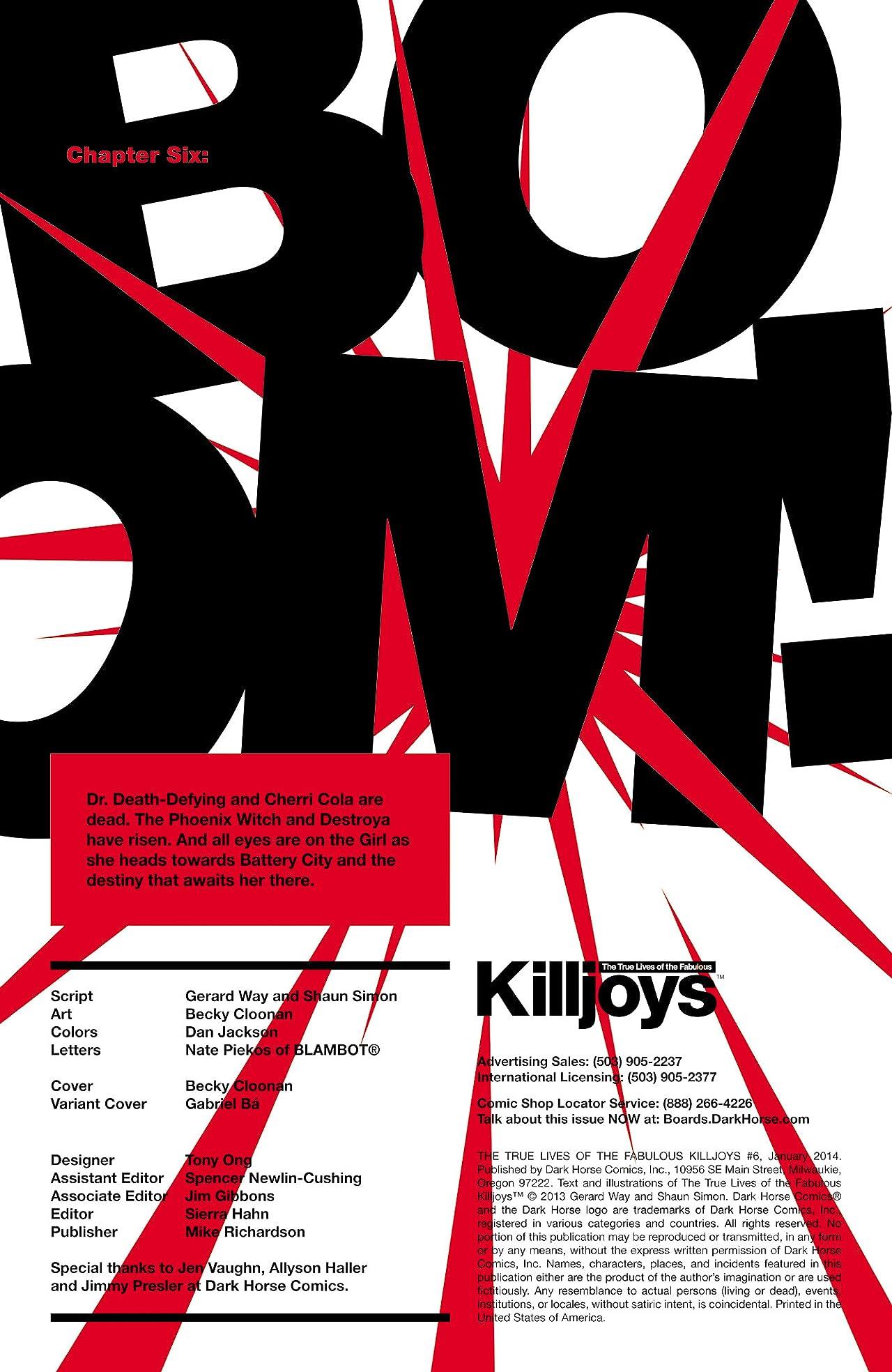 True Lives of the Fabulous Killjoys #6