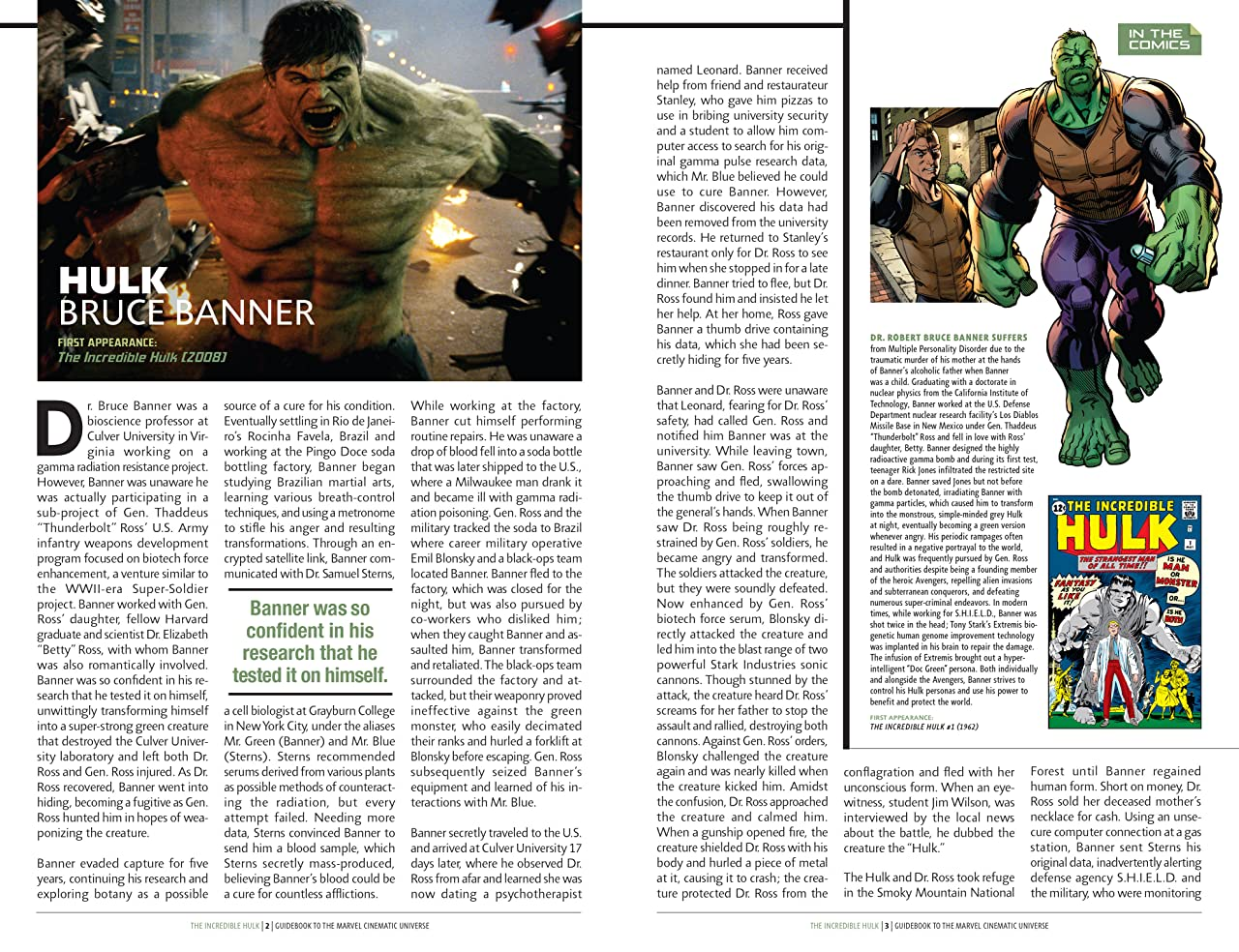 Guidebook to the Marvel Cinematic Universe #1: Marvel's Incredible Hulk