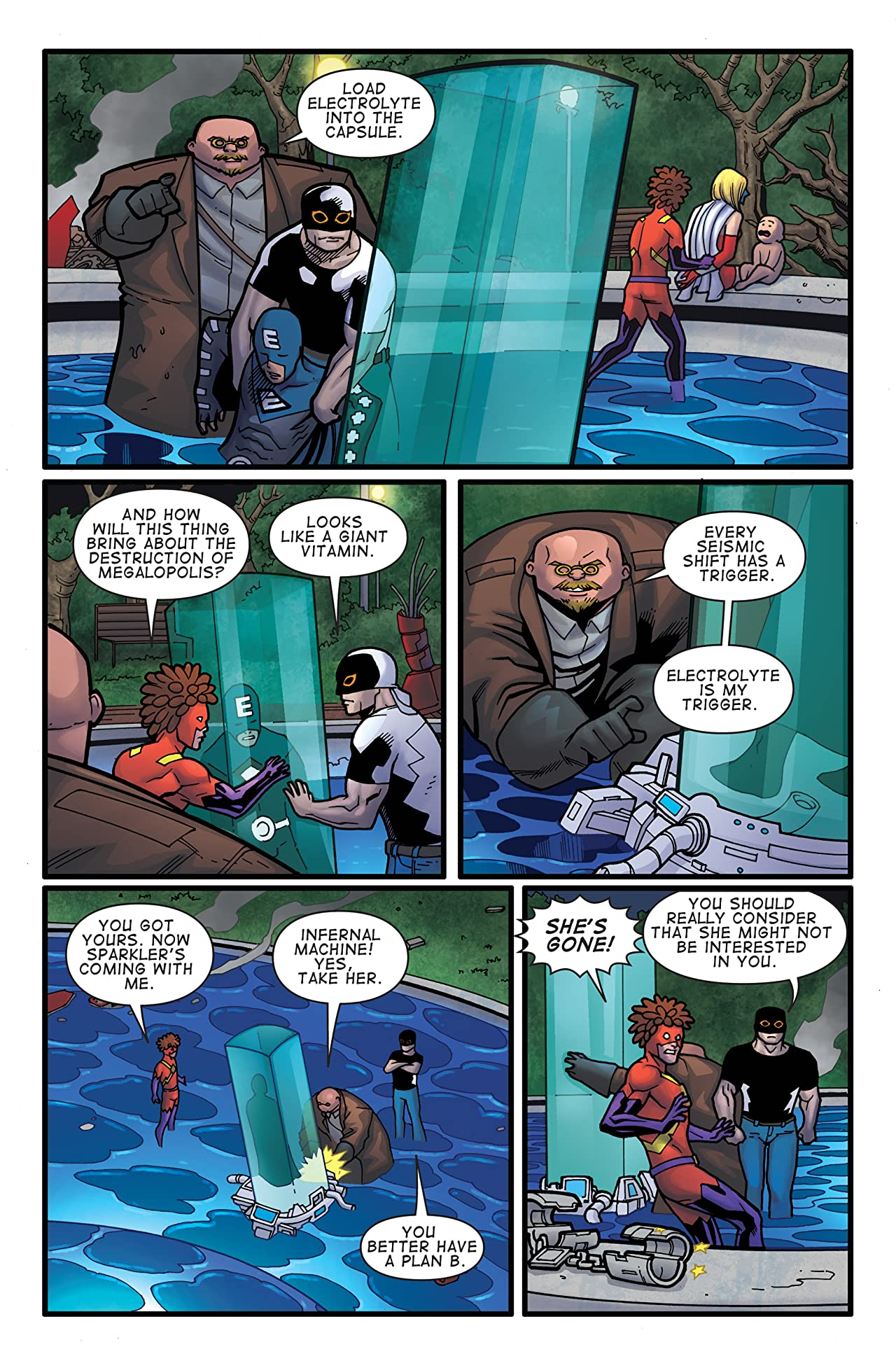 The Misadventures of Electrolyte and The Justice Purveyors #8