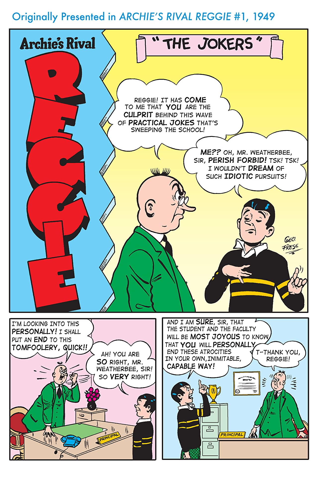 Archie 75 Series #5: Reggie and Me