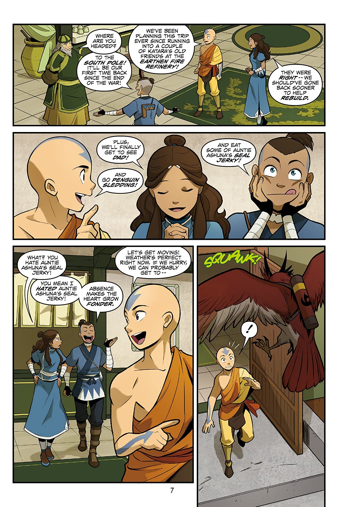 Assured, Avatar the last airbender katara comic