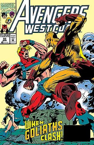 Avengers West Coast (1985-1994) #92