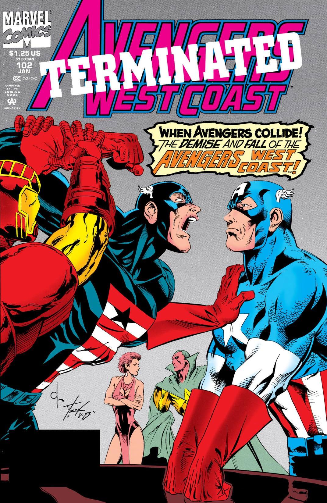 Avengers West Coast (1985-1994) #102