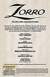 Zorro Vol. 2: Clashing Blades