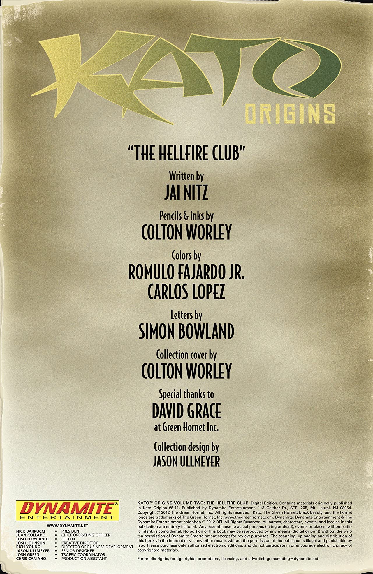 Kato Origins Vol. 2: Hellfire Club